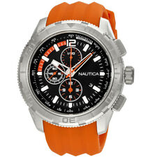 Nautica NST 101 Chronograph Black Dial Mens Watch A18723GS
