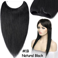 100% Remy Human Hair Extensions Secret Invisible Wire Real Hidden Crown Hair MY