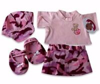 Teddy Bear Clothes fits Build a Bear Pocket T-Shirt Skirt Outfit Shoes with Cap