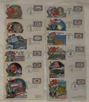 12 WWII WW2 patriotic cover covers Liberation Series by Staehle for Fluegel