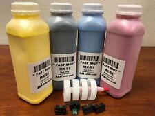 4 Toner Refill for Sharp (MX-51) MX-4110 4111 5110 5111 5141 (ECONOMY) + 4 Chip