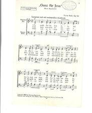 Notenblätter für Chor * Ganz für Jesu * SATB