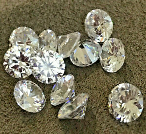CUBIC ZIRCONIA LOOSE STONES  AAAAA BRILLIANT WHITE   BEST QUALITY  1 mm - 12 mm
