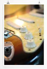 60x90cm Poster Künstlerische Fotografie – Elektrische Gitarre aus Holz