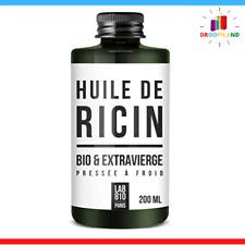 Huile Ricin Bio Pure 100% Soin Naturelle Fortifiant Cils Cheveux Barbe Hydratant