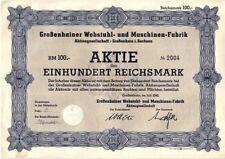 Großenhainer Webstuhl  und Maschinen - Fabrik AG  1942
