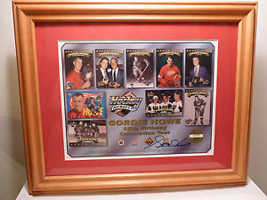 Framed GORDIE HOWE Autograph Auto Signed Detroit Red Wings 65th Birthday UD WOW!