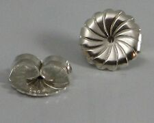 1 Pair Solid Sterling Silver X-Large Heavy Duty 9.5MM Replacement Earring Backs