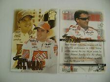 PRESS PASS  VIP '99 TONY STEWART/HOME DEPOT  ON MINT CARD #25