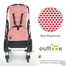 Outlook Pram Stroller Liner Red Elephant #`TCRED