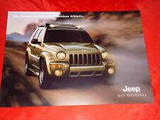 """JEEP Cherokee """"Athletic"""" Sondermodell Prospekt von 2004"""
