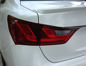 PreCut Red Tint Overlays for 2013 2014 2015 GS 350 GS 450h Taillight Turn Signal
