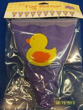 Yellow Ducks Rubber Ducky Baby Shower Nursery Party Decoration Felt Flag Banner