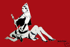 "Banksy's Queen Victoria - 24""x36"" Canvas Art Print"