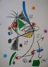 Joan MIRO Lithographie originale sur velin signée 1974 art abstrait surréalisme