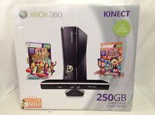 Microsoft Xbox 360 Kinect Holiday Bundle 250GB Glossy Black Console - Brand New