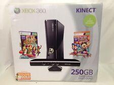 Microsoft Xbox 360 Kinect Holiday Bundle 250GB Glossy Black Console - Brand New