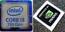I3 7th generación Azul 18 mm x18mm NVidia Computadora Portátil PC Escritorio Metálico Pegatinas de Windows 7