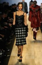 New $1995 Michael Kors Collection Runway Plaid and Sequin Sheath Dress, Italy, 2