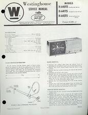 Factory Westinghouse H-640/641/642-T5 V-2390-2 Clock AM Radio Service Manual