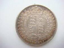Antiques silver coin Half crown 1887 Victoria. GOOD CONDITION !!!
