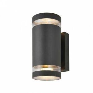 Zinc Modern Lens 29189-ATR Outdoor Wall Light IP44 GU10 Fixture Up Down Lights