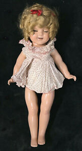 """Vintage Original 1930's Shirley Temple Ideal 22"""" Composition Doll w/ Dress"""