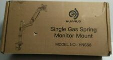 """HUANUO Single Monitor Stand - Gas Spring Single Arm Monitor Desk Mount 27"""""""