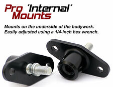 Auto Racing Mirrors - PRO INTERNAL MOUNT - 6061 Aluminum - CNC Milled & Anodized