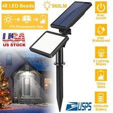 48 LED Solar Powered Spotlights Garden Lawn Lamps Landscape Lights Waterproof