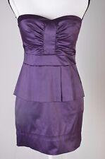 City Triangle Womens dress 7 Peplum Casual Cocktail  Mini Dress Purple (Q)