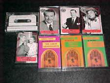 Eight (8) Radio Comedy Cassettes - Edgar Bergan, Milton Berle, Red Skelton, more