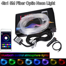 5M RGB LED Car Interior Neon Strip Bluetooth Phone APP Control Atmosphere Light