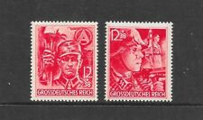 GERMANY Sc B292-3 NH ISSUE OF 1945 - TROOPERS - LAST SET OF NAZI TIME