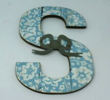 Ashland Rustic Charm Distressed Wall Decor Wooden Letter S Floral New