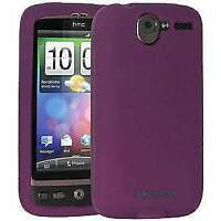 AMZER Silicone Skin Jelly Case Cover Fit For for HTC Desire - Purple