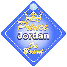 Crown Prince Jordan On Board Personalised Baby Boy Car Sign