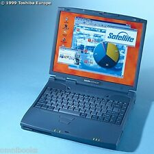 Vintage Toshiba Satellite 4100XDVD PII 400MHz 20GB Notebook Computer Windows XP
