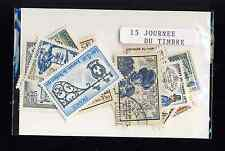 Francia journée il francobollo 30 francobolli diversi timbrati