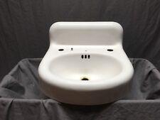 Antique Cast Iron White Porcelain Powder Bath Wall Sink Old Kohler Vtg 569-18E