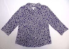 WOMENS no-iron spotted SHIRT blouse = CHICO'S = SIZE 1 = gp24