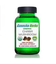 Chaga Champignon Haut puissance 20 : 1 Extrait 90 Capsules Certif. Bio N