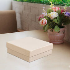 Kinbor 16pcs Square Jewelry Boxes 3.5x3.5Inch Gift Box Cardboard W/Cotton Filled