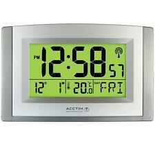 Acctim Stratus Large Wall Desk Signal Radio Controlled Clock Smartlite Clock