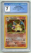 1999 Pokemon Card WOTC Unlimited Base Set Charizard Rare Holo CGC 7 4/102