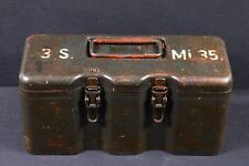 100% ORIGNIAL WW2 WWII GERMAN METAL BOX CASE CONTAINER 3 S.Mi.35 BOUNCING BETTY