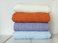 Organic Softened Stonewashed European Linen Flax Bath Waffle Towel.Airness.Hangi