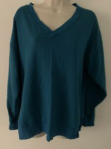 Gap Size XS Oversized/Relaxed Fit Sweater Lounge Wear - Teal