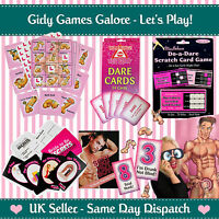 FUNNY HEN NIGHT PARTY GAMES Accessories Bride To Be Gifts Willy Bingo Dare Cards