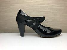 Clarks Women's Black Patent Leather Mary Jane Court Shoes UK Size 6